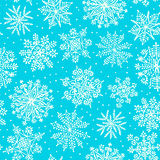 Hand drawn snowflakes. Seamless pattern. Stock Photos