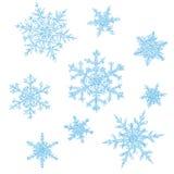 Hand Drawn Snowflakes Stock Image