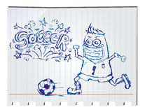Hand drawn soccer Royalty Free Stock Images