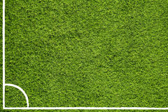 Hand drawn soccer field corner Royalty Free Stock Image