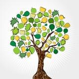 Hand drawn social media tree Stock Photos