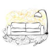 Hand drawn sofa Royalty Free Stock Photos
