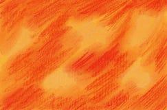 Orange Yellow Dream - Soft Pastel Painting Royalty Free Stock Photos