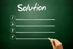 Hand drawn Solution blank list concept on blackboard Royalty Free Stock Image