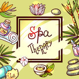 Hand drawn spa Royalty Free Stock Images