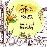 Hand drawn spa Royalty Free Stock Photos