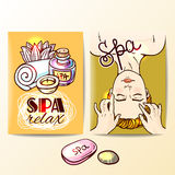 Hand drawn spa Stock Images