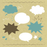 Hand drawn speech balloon illustration on cardboard Royalty Free Stock Photo