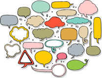 Hand drawn speech bubble in colors Royalty Free Stock Photo
