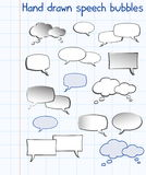 Hand drawn speech bubbles Royalty Free Stock Photos