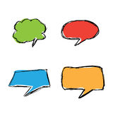 Hand drawn  speech bubbles Stock Photography