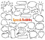 Hand drawn speech bubbles royalty free illustration