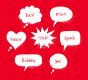 Hand drawn speech bubbles Royalty Free Stock Images