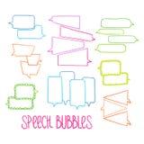 Hand-drawn Speech Bubbles-01 Royalty Free Stock Image