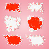 Hand drawn speech bubbles set Royalty Free Stock Images