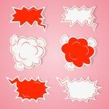 Hand drawn speech bubbles set royalty free illustration