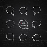 Hand Drawn speech bubbles Royalty Free Stock Photo