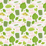 Hand drawn spinach seamless pattern Royalty Free Stock Image