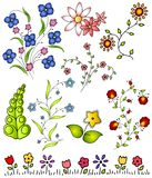 Hand Drawn Spring Flowers Vector 2 Stock Photos