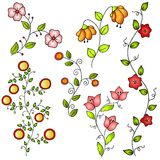 Hand Drawn Spring Flowers Vector