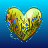 Hand drawn spring heart. Stock Images