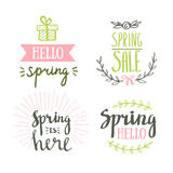 Hand Drawn spring lettering. Easter Holidays lettering for invitation, sale, greeting card, prints and posters. vector illustration