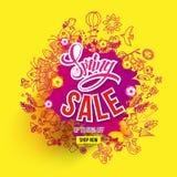 Spring sale spalsh royalty free illustration