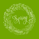 Hand drawn spring wreath. Vector illustration. EPS10 Stock Photo