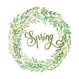Hand drawn spring wreath. Vector illustration. EPS10 Stock Photos