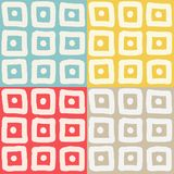 Hand drawn squares pattern Stock Photography