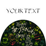 Hand drawn  St. Patrick`s Day greeting card. Stock Photography