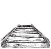Hand drawn stairs sketch. Royalty Free Stock Photo