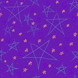 Hand drawn star background Royalty Free Stock Photo