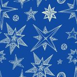Hand drawn stars Royalty Free Stock Photography