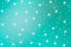 Hand drawn stars. On aqua background vector illustration