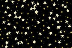 Hand drawn stars. On black background vector illustration