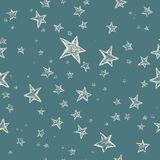 Hand drawn stars pattern Royalty Free Stock Images