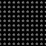 Hand Drawn Stars Seamless Pattern Stock Photos