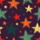 Hand drawn stars seamless pattern. Vector illustration Royalty Free Stock Photography