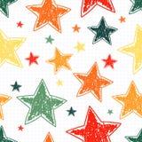 Hand drawn stars seamless pattern. Vector illustration Royalty Free Stock Photos