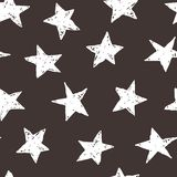 Hand drawn stars sky. Vector seamless background pattern with hand drawn stars Royalty Free Stock Photos
