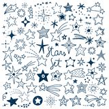 Hand drawn Stars Vector Set. Vector Illustration set with all kinds of hand drawn Stars vector illustration