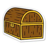 Hand drawn sticker cartoon doodle of a treasure chest. A creative sticker cartoon doodle of a treasure chest stock illustration