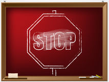 Hand drawn stop sign Stock Image