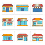 Hand drawn store icons Stock Image