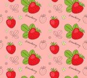 Hand drawn strawberries seamless pattern. Vector illustration vector illustration