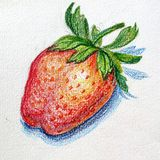 Hand-drawn strawberry Stock Photography