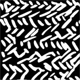 Hand drawn striped pattern. Black and white. Design elements drawn strokes. The effect of gel pens Royalty Free Stock Photo