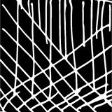 Hand drawn striped pattern. Black and white. Design elements drawn strokes. The effect of gel pens Stock Photo