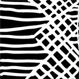Hand drawn striped pattern. Black and white. Design elements drawn strokes. The effect of gel pens Stock Photography